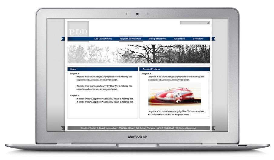PDD Lab Webside - Hubert Liang's Design Works